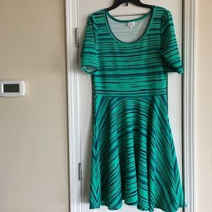 Women's LuLaroe Striped Dress Nicole SZ XL